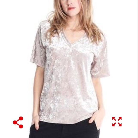 3226f029c95 Michelle By Comune Velvet Tee Shirt